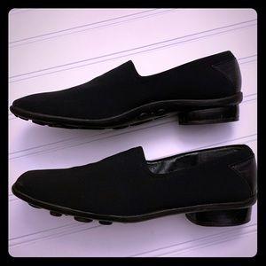 Stuart Weitzman Slip On Black Loafers Sz 6